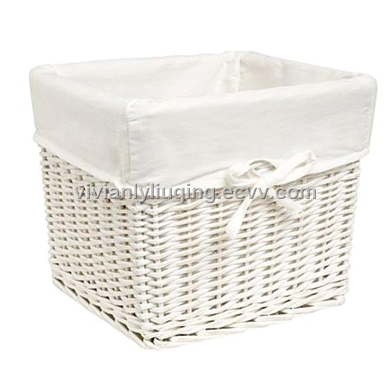 White Wicker Laundry Baskets