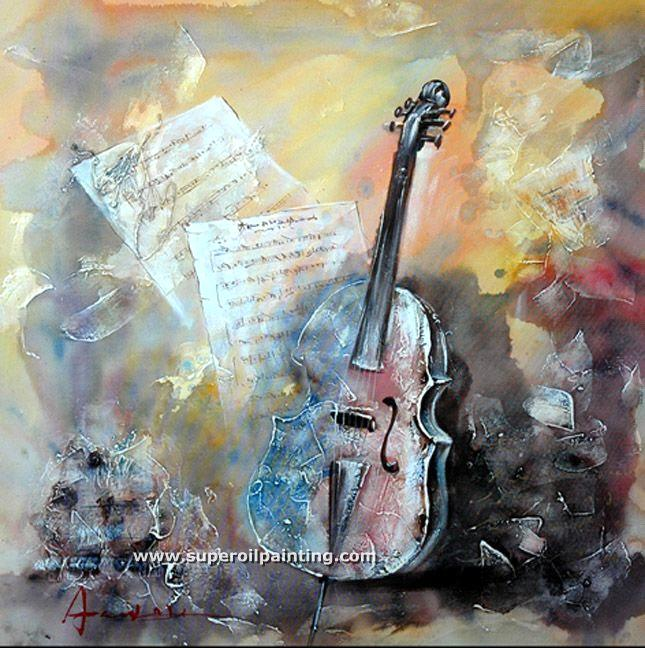 mordern music instrument oil painting purchasing souring