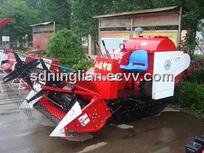 Tracked Rice Combine Harvester