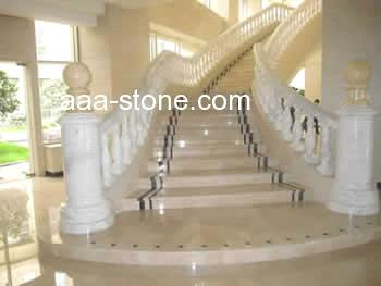 Granite Marble Balustrade Handrail And Steps From China