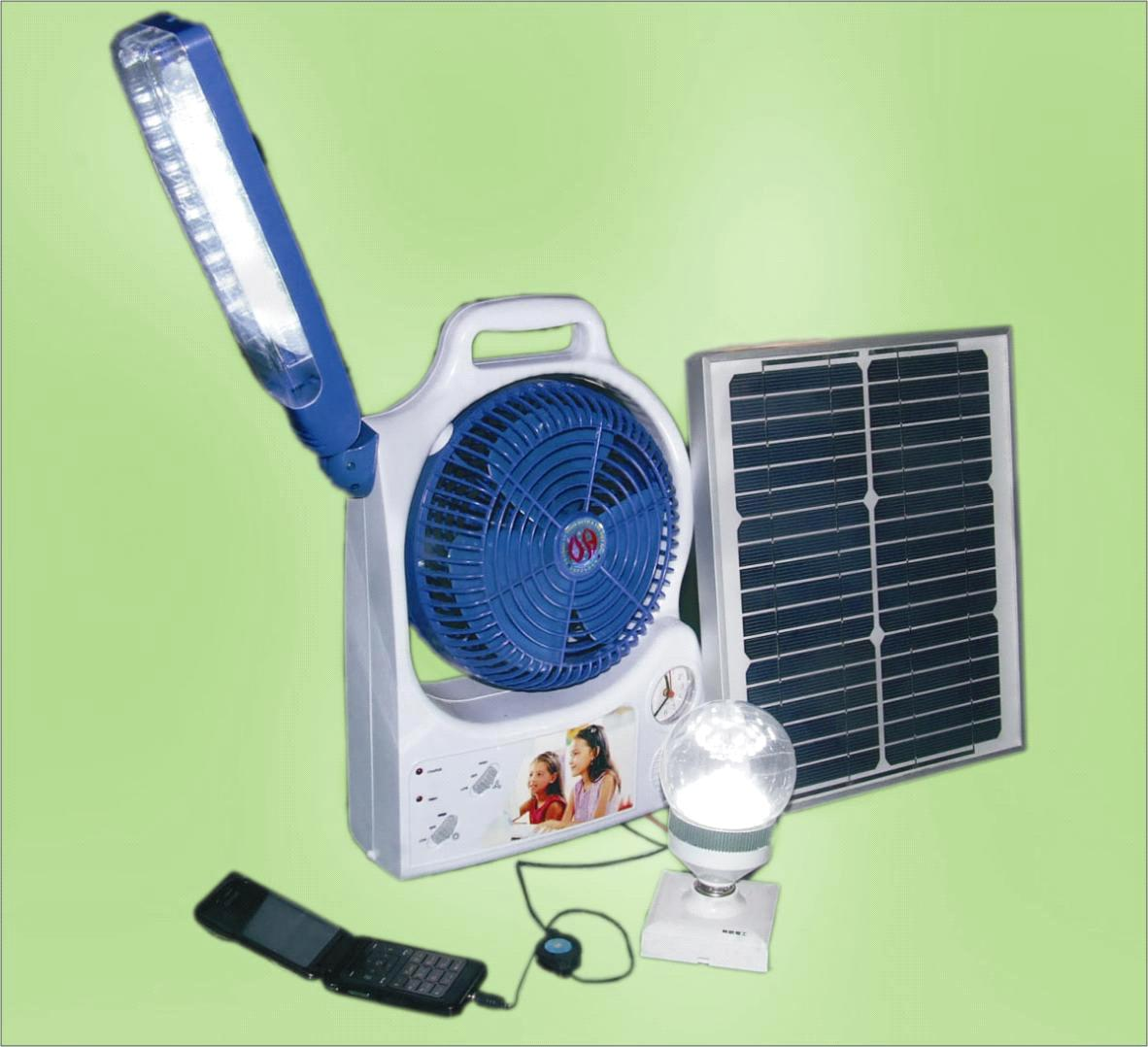 Solar Power Fan With Light Purchasing Souring Agent