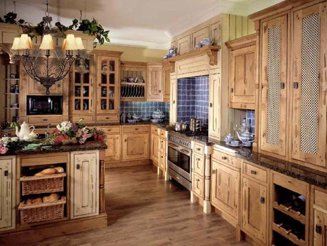 Medium image of antique solid wood kitchen cabinet