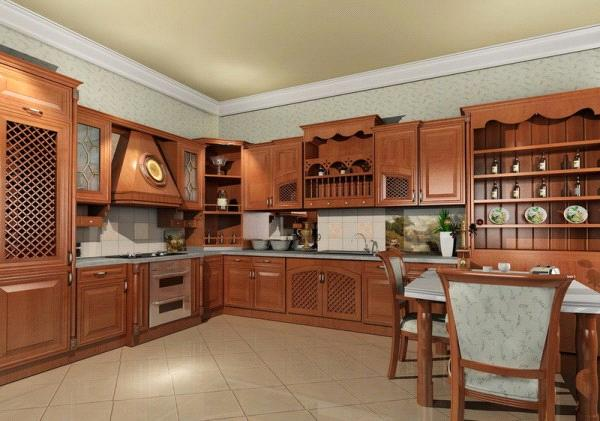 Classic Solid Wood Kitchen Cabinet