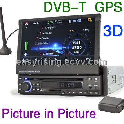 Erisin ES828D HD 7 Inch 1 Din Car Touchscreen GPS DVB-T Radio USB DVD MP3