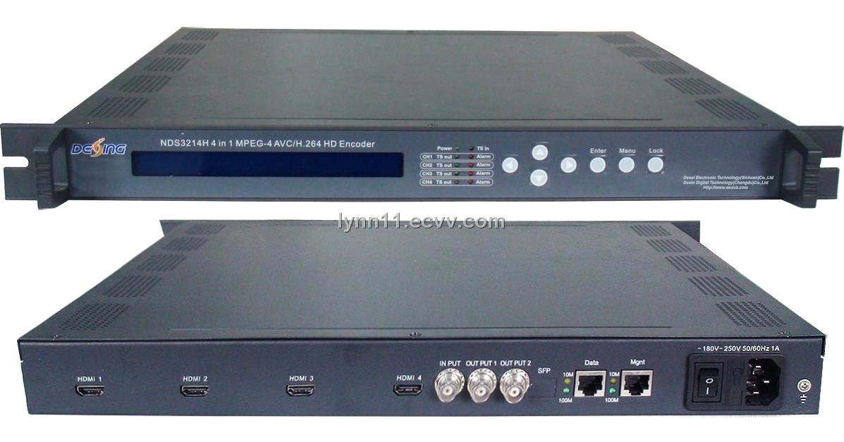 NDS3214H 4 IN 1 MPEG-4 AVC/H 264 HD Encoder
