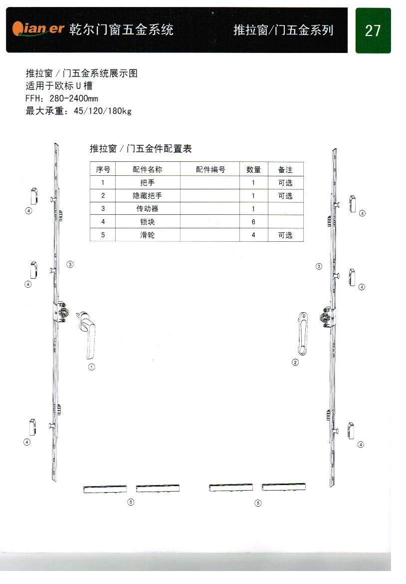 Sliding window or door hardware