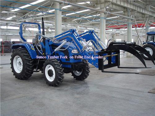 Timber Fork on Front End Loader for Tractor wider use from