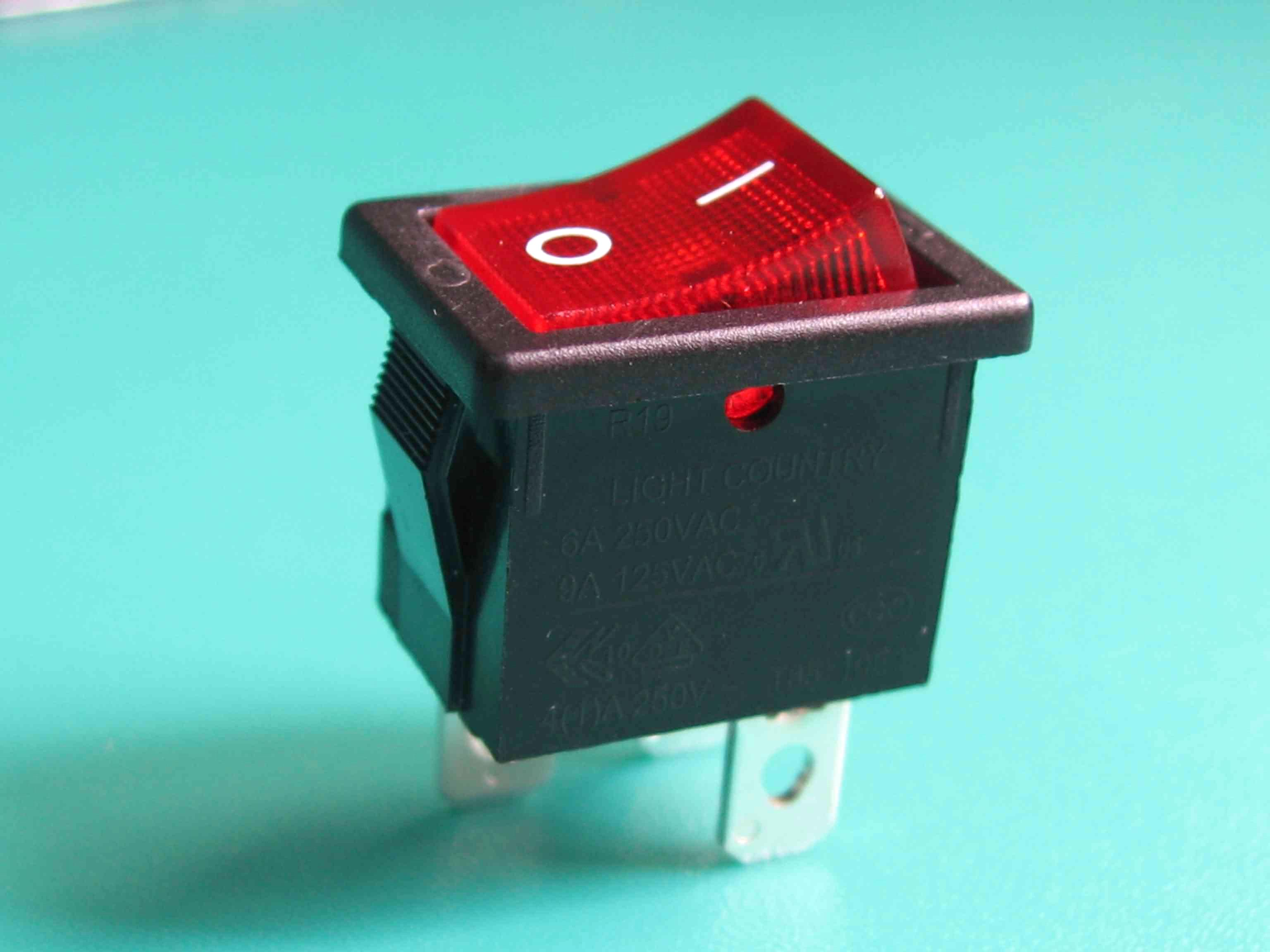 Electronic DPST Rocker Switch With Lamp