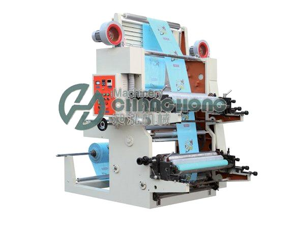 2 Colors High Speed Film Flexographic Printing Machine