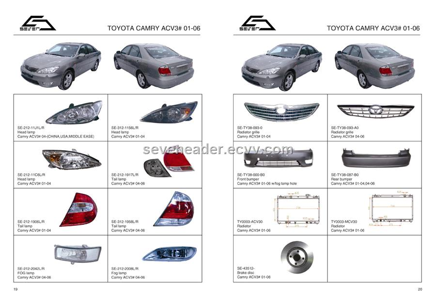 Auto Lamp for Toyota camry purchasing, souring agent | ECVV.com ...