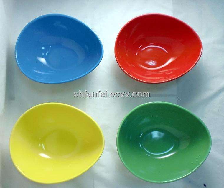 Ceramic Water-Shaped Bowl with Various Colors