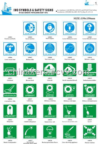 Imo Symbols & Safety Signs from China Manufacturer