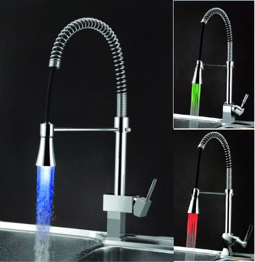 LED Faucet for Kitchen, Brass Body Chrome Plated purchasing, souring ...