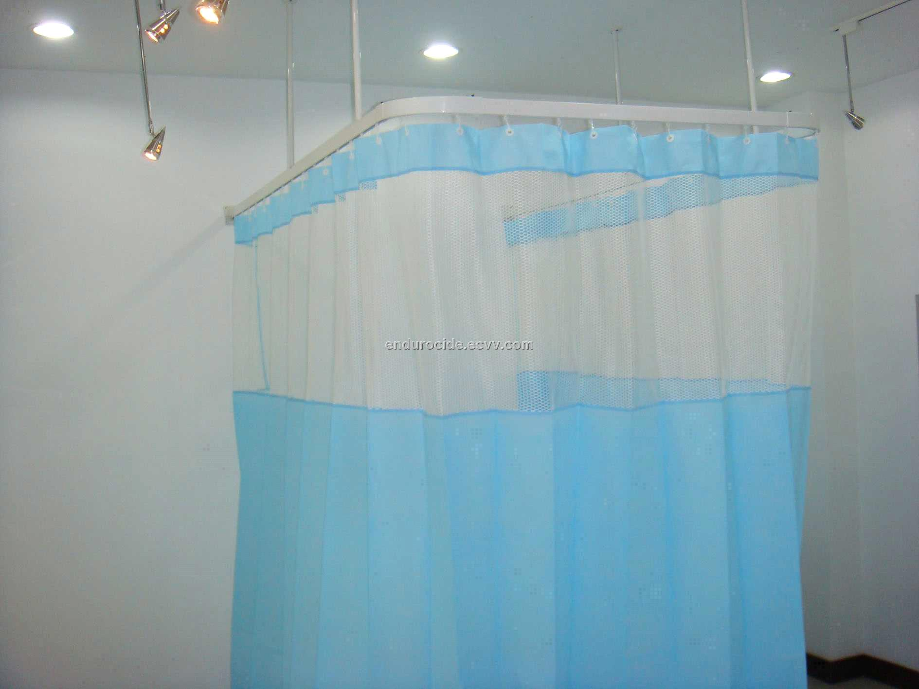 nhs photos stock images bed photo alamy surround image curtain a hospital blue curtains