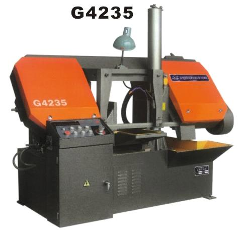 horizontal structural double band sawing machine