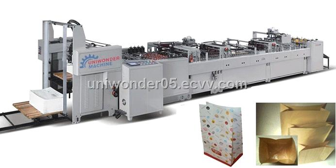1100 Square Bottom Paper Bag Making Machine