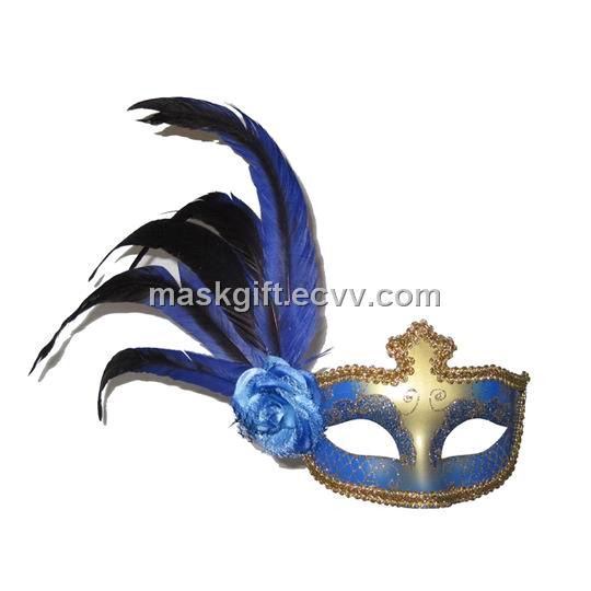 blue gold venetian feather mask purchasing souring agent ecvv