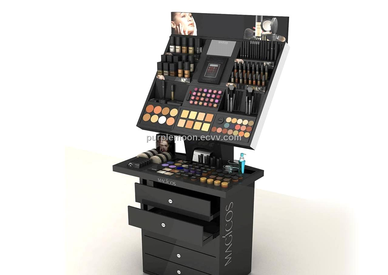 Expo Stands Eyeshadow : Cosmetics display purchasing souring agent ecvv