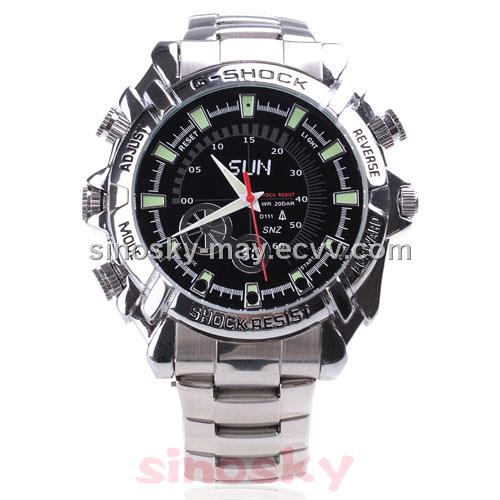 Waterproof 1080p Digital Watch Camera With Night Vision and PC Function