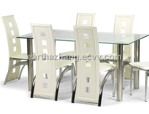 Modern Furniture Gl Dining Table And Chair Xydt 043