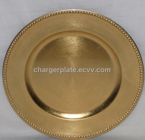 round gold charger plate : plastic gold charger plates - pezcame.com