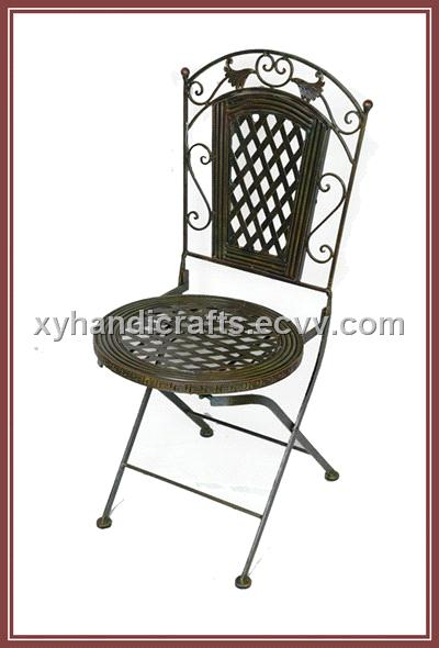 Charmant Wrought Iron Folding Chair Home Furnitures