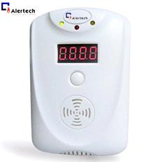 Home gas alarm with LED