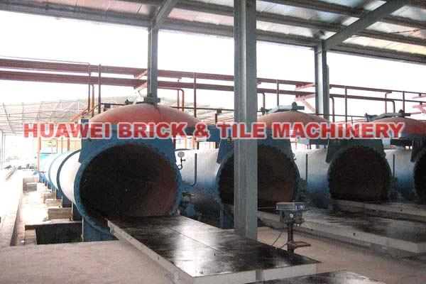 AAC (Autoclaved aerated concrete) block production plant