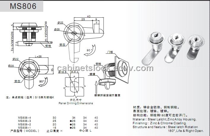 Cam Cabinet Lock From China Manufacturer Manufactory