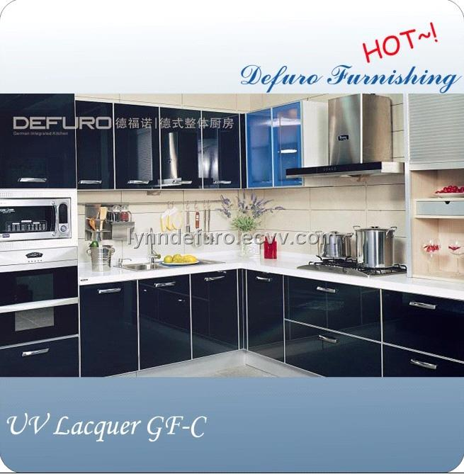 German Kitchen Cabinets: German Style UV Lacquer Kitchen Cabinet Design From China