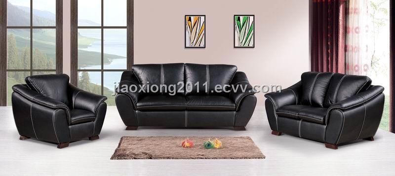 Good Hongfei Leather Sofa Set From Jiaoxiong Furniture Factory