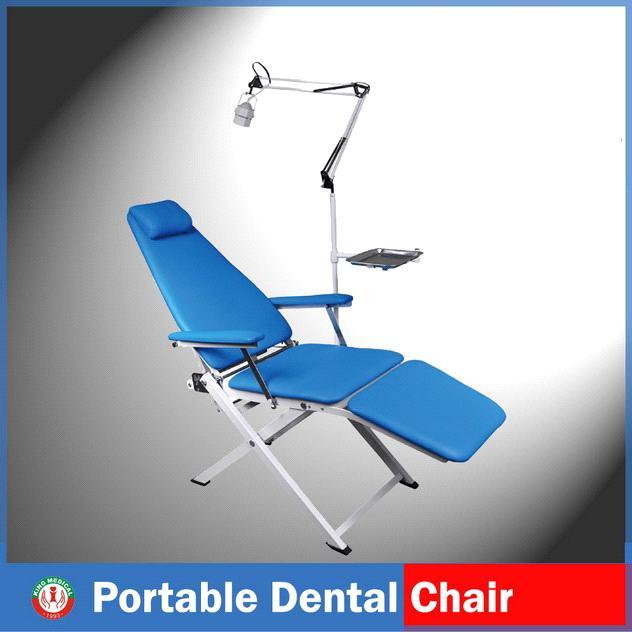 Basic manual dental chair, dentist tools, equipment & supplies.