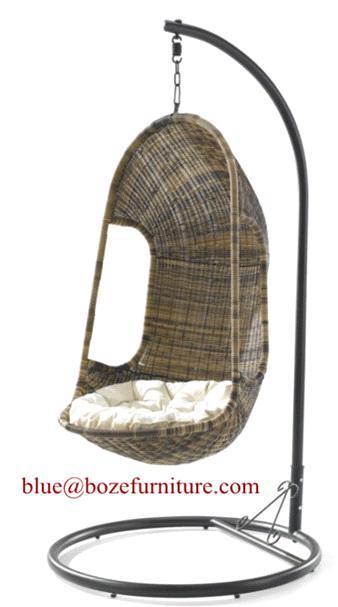 china patio furniture rattan hanging chair swing chair bz w012