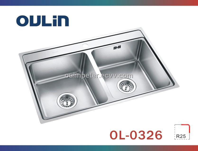 Undermount Double Bowl Stainless Steel Kitchen Sink (OL-0326 ...