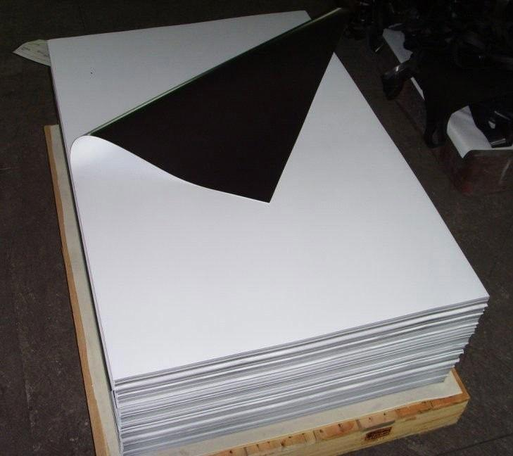 Flexible Magnetic Sheet With Glossy White Vinyl From China