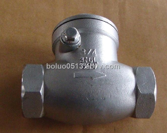 Stainless Steel Screwed Check Valve