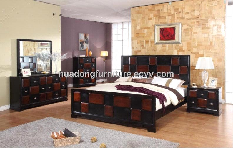 Antique Solid Wood Bedroom Set (HDB004)