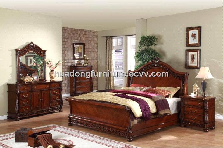 Antique wooden bedroom sets hdb009 purchasing souring Wholesale bedroom sets free shipping
