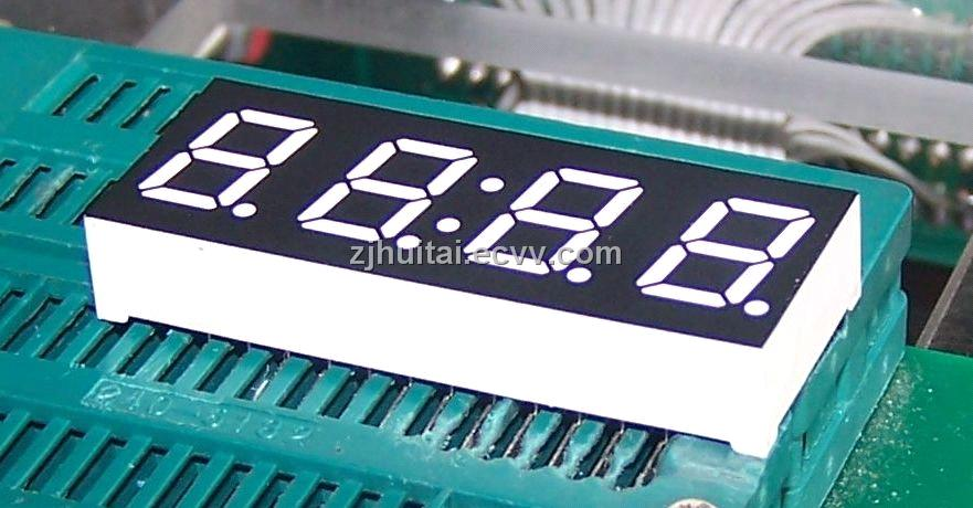 0.28 Inch Four Digit Seven Segment LED Clock Display