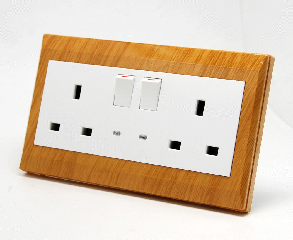 2 Gang Electric BS Switch Socket with LED purchasing, souring ...