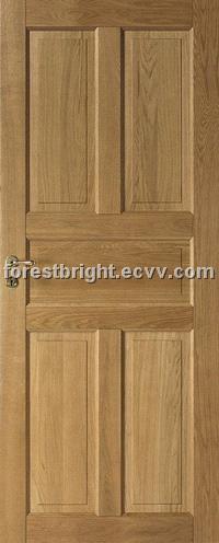5 Panel White Oak Solid Door