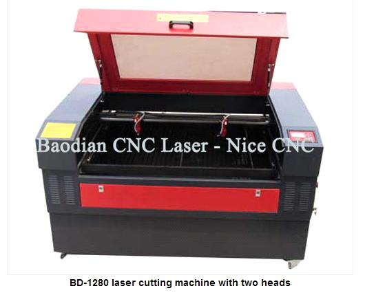 Laser Cutting Machine with Two Heads (BD-1280)