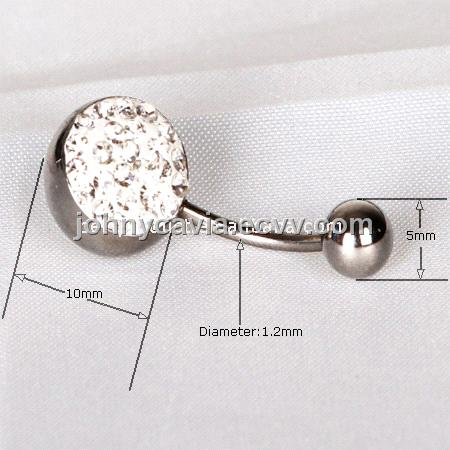 Body Jewelry Piercing Crystal Diamond Belly Button Rings From China