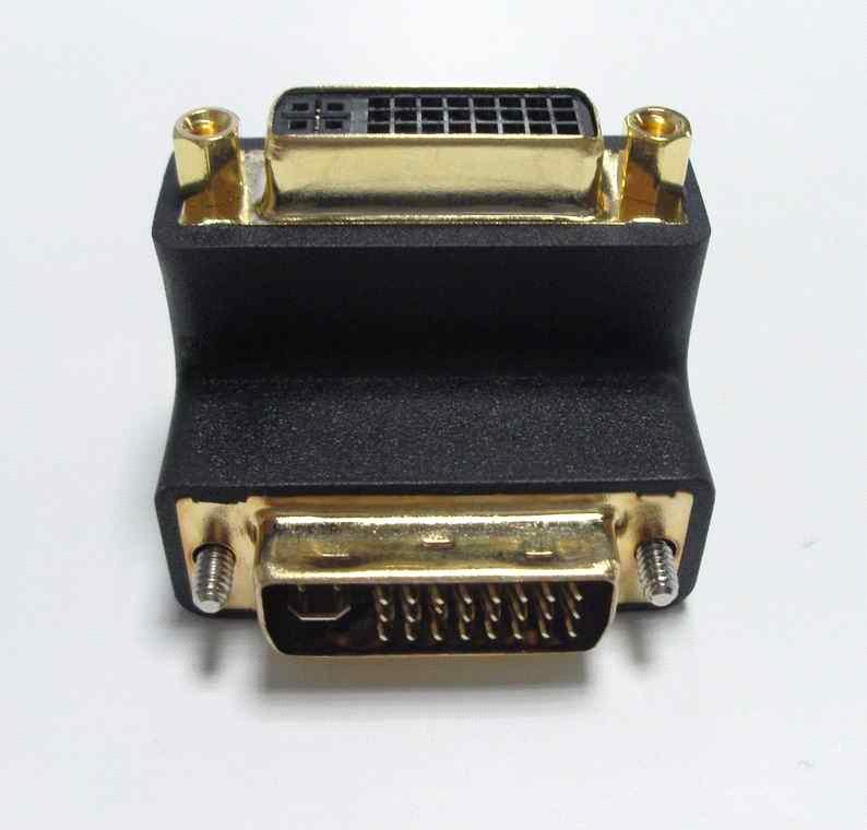 DVI Connector - Male to Female 90 Degree