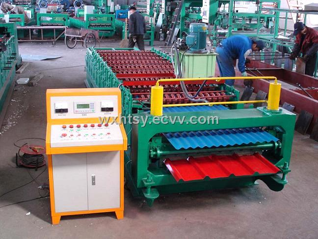 Double Ridge Tile Forming Machine