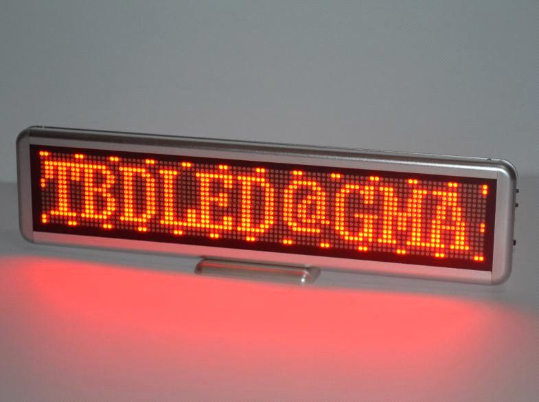 New RED Mini LED Scrolling Moving Name Badge Tag Sign Message Board Programmable
