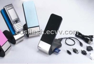 4 Ports USB Hubs with SDHC Card Reader Mobile Phone Dock Charger Gadgets as promotional items