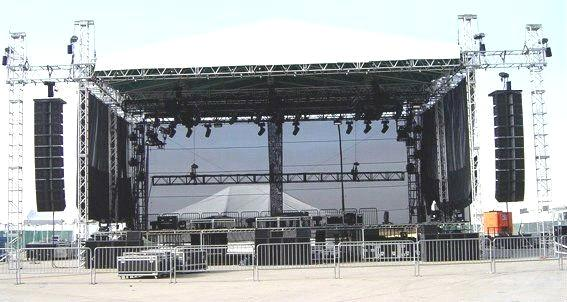 6 Pillars Lighting Truss System For Outdoor Large Concert Performance With Stage