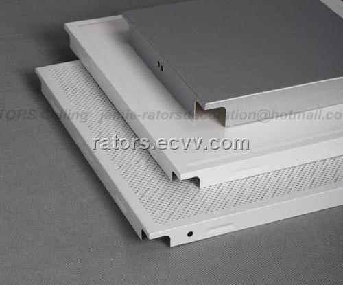 Clip In Aluminium False Ceiling Tiles Metal Suspended