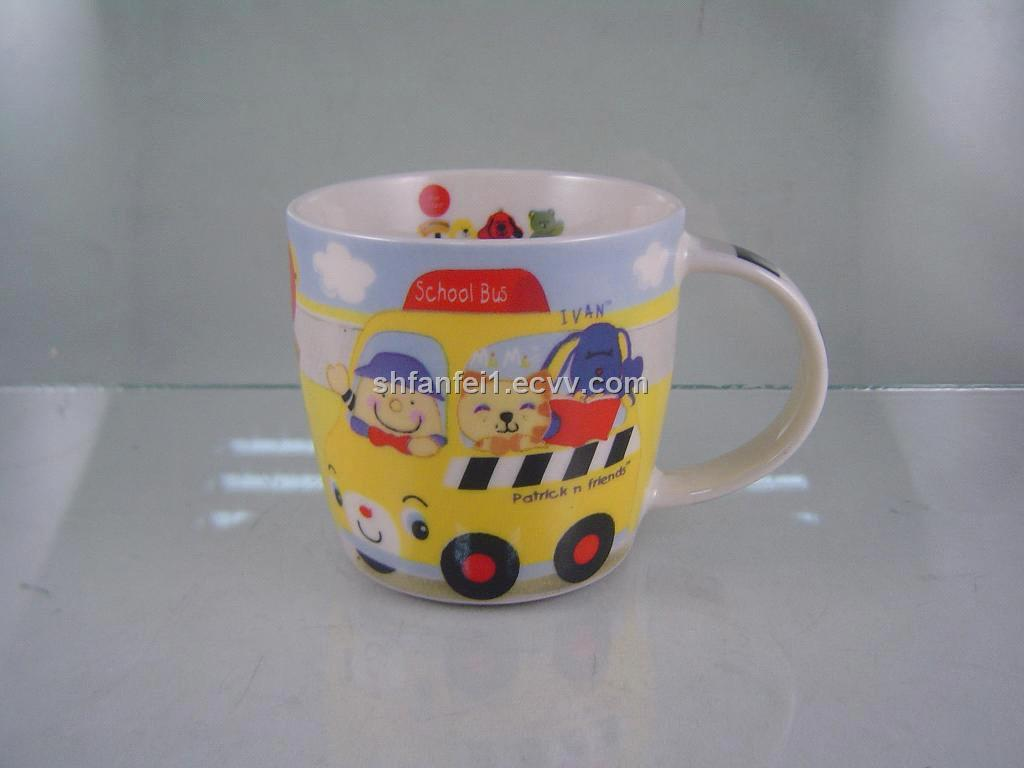 New bone china coffee cup with full lovely printing